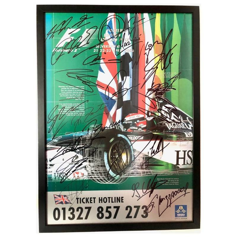 Product image for Formula 1 | Fosters British Grand Prix 21-23 April 2000 | Multi-Signed Poster