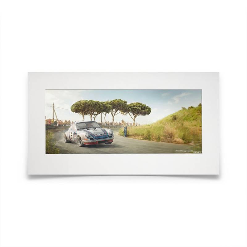 Product image for Racing Sport Redefined | Herbert Müller - Porsche 911 Carrera RSR - 1973 | Automobilist | Artwork