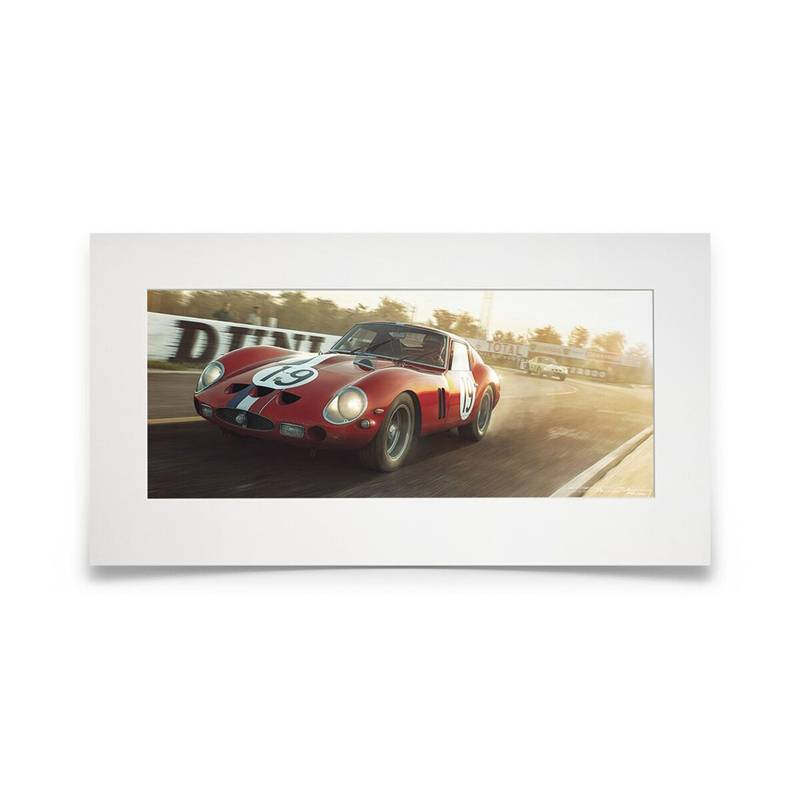 Product image for Not Sterling Without Stirling | Jean Guichet - Ferrari 250 GTO - 1962 | Artwork