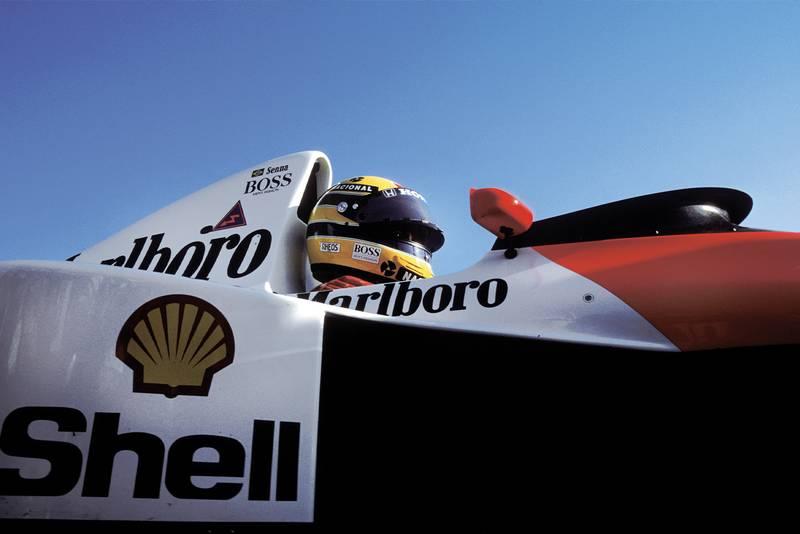 Ayrton Senna in the 1990 McLaren Honda