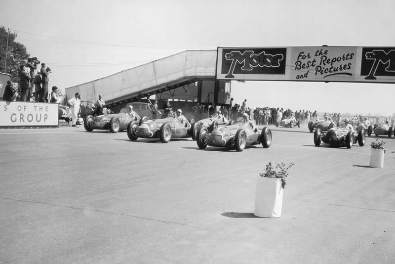 Start of the 1950 British Grand Prix at Silverstone
