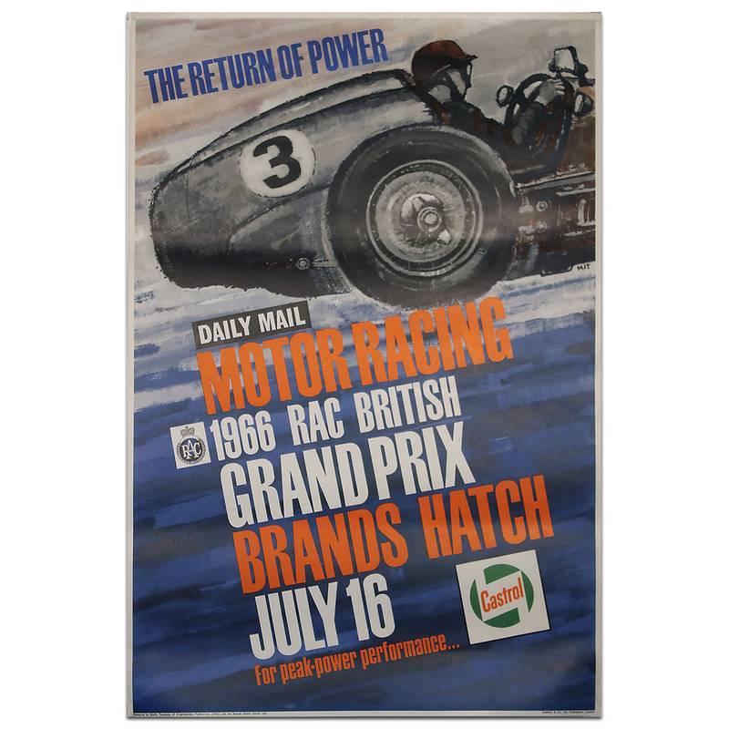 Product image for F1 | British Grand Prix – 1966 – Brands Hatch | original vintage poster