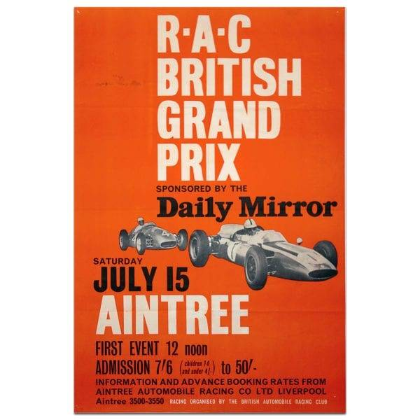 1961 births gp vintage poster aintree