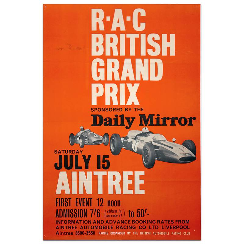 Product image for F1 | British Grand Prix - 1961 - Aintree | original vintage poster