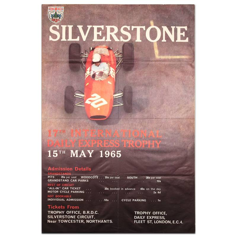 Product image for British International Trophy Race 1965 Silverstone Poster