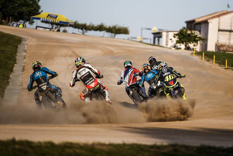 Riders kick up dust racing at Valentino Rossi's ranch