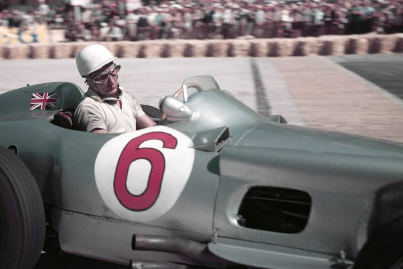 Stirling Moss in a Mercedes