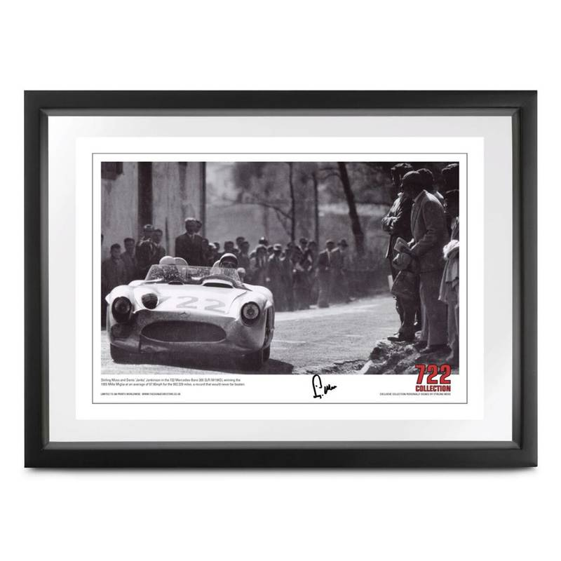 Product image for 722 'Victory' Mille Miglia print | signed Stirling Moss