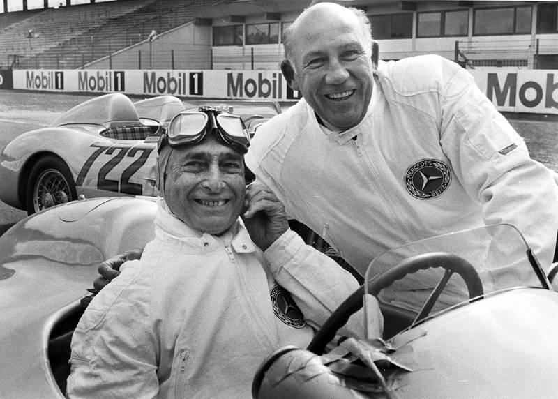 Stirling Moss and Juan Manuel Fangio in 1991