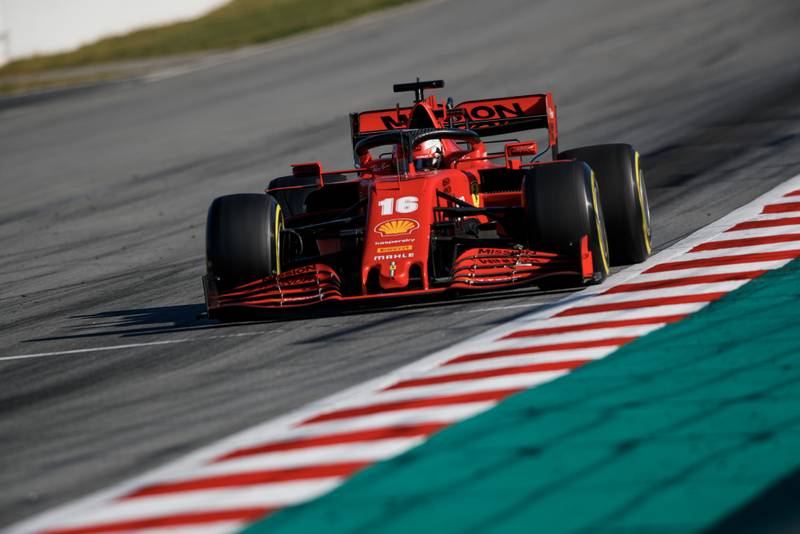 Charles LEclerc in 2020 preseason F1 testing