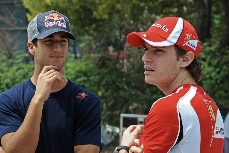 Daniel Ricciardo and Jules Bianchi in 2011