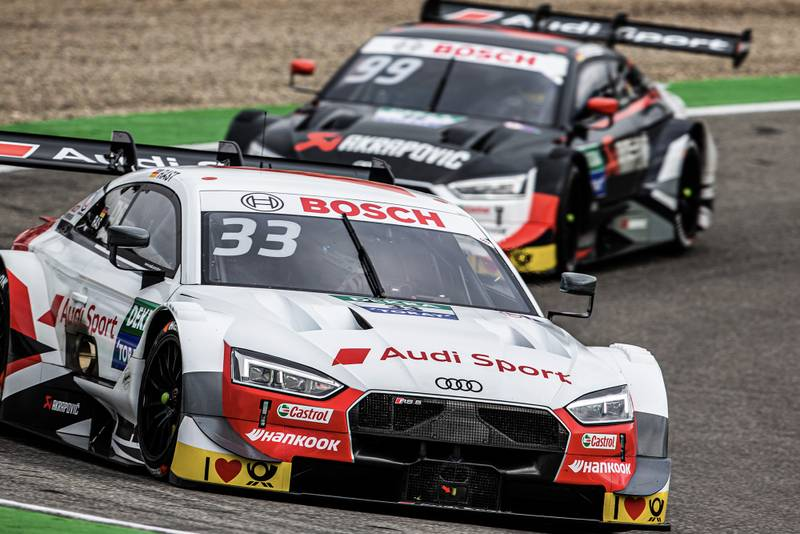 Rene Rast in his Audi RS5 DTM at the 2019 DTM Hockenheim round