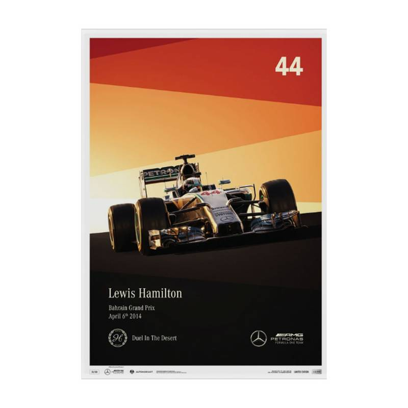 Product image for Lewis Hamilton – Mercedes – 2014 | Automobilist | Limited Edition poster