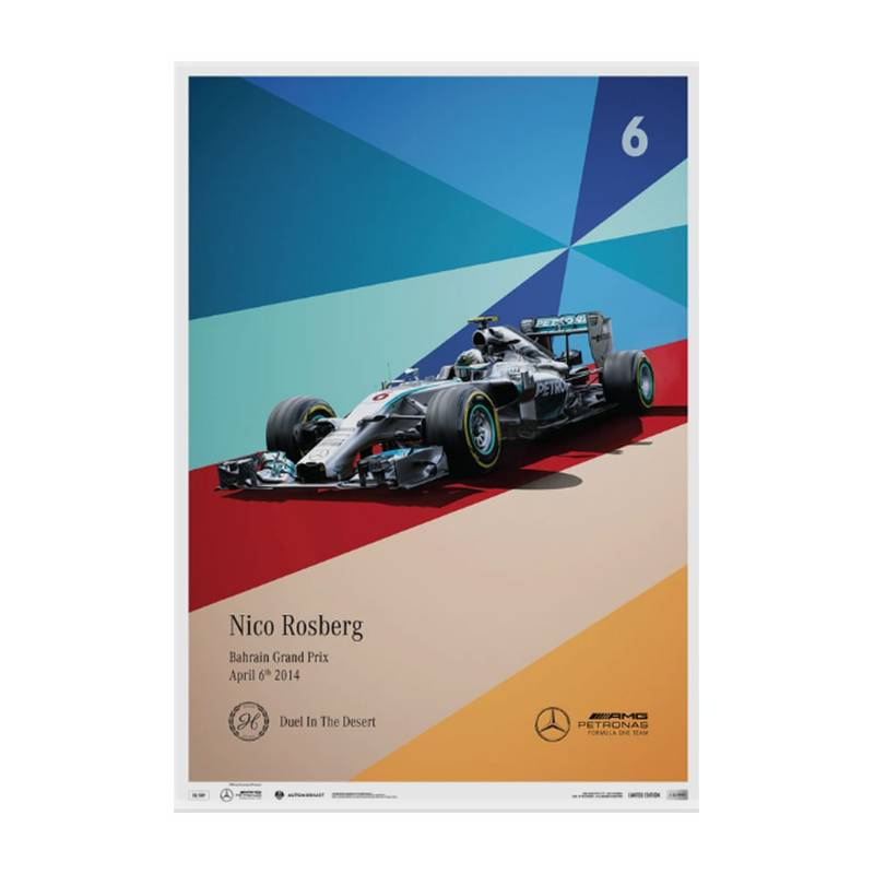Product image for Nico Rosberg - Mercedes - 2014 | Automobilist | Limited Edition poster