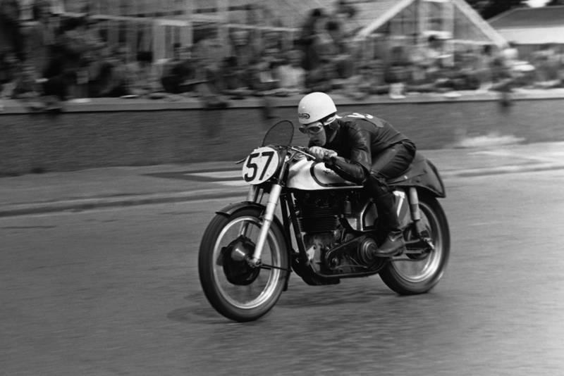 Geoff Duke in the 1950 TT