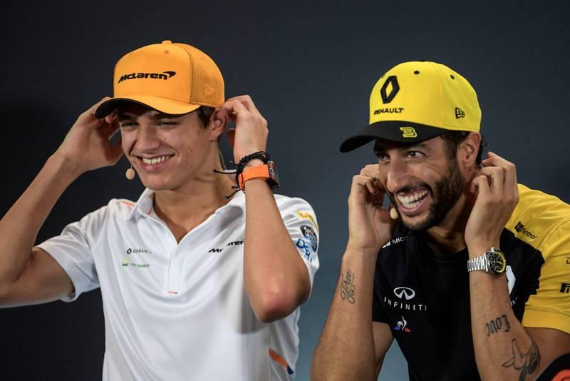 Daniel Ricciardo and Lando Norris in 2019