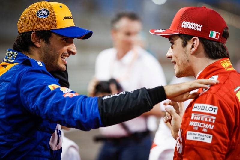 Carlos Sainz and Charles Leclerc, 2019