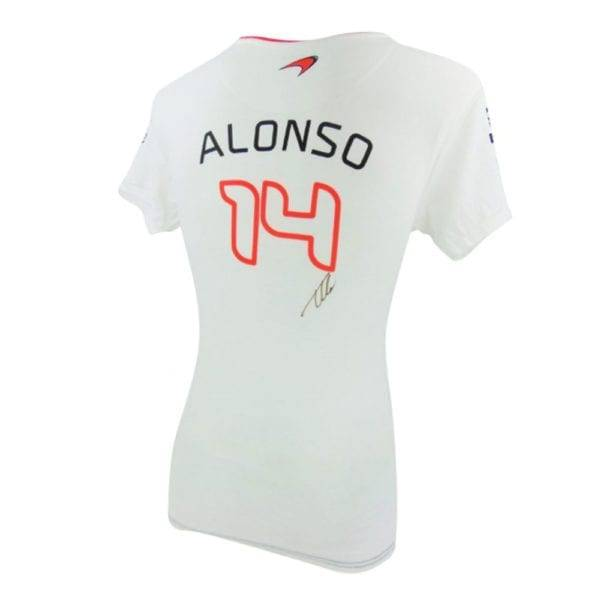 Fernando Alonso signed t shirt