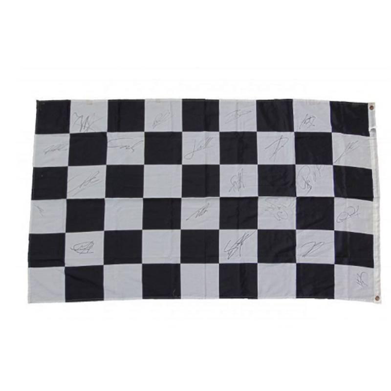 Product image for Formula 1 Race Flag – 2011   memorabilia   signed 2011 F1 championship drivers