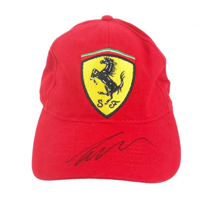 Product image for Signed Niki Lauda Cap – Ferrari Formula 1 Icon