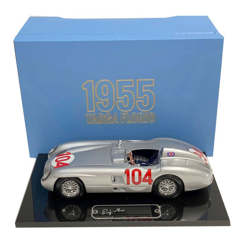Product image for Boxed 1:18, Mercedes 300SLR Targa Florio, signed Stirling Moss