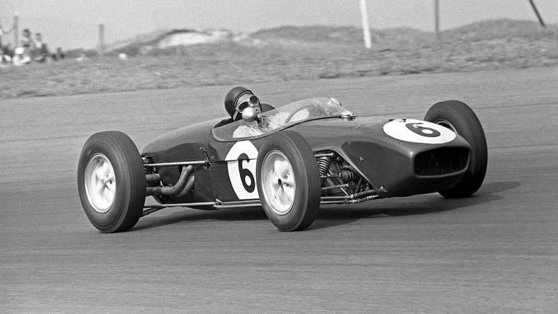 Jim Clark in his F1 Grand Prix debut at Zandvoort for the 1960 Dutch Grand Prix