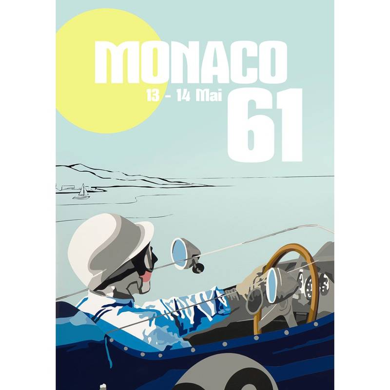 Product image for Stirling Moss – Lotus 18/21F – 1961   Joel Clark   Contemporary Poster
