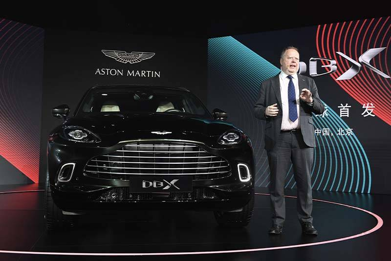 Andy Palmer with Aston Martin DBX