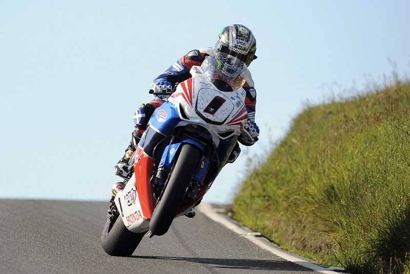 John McGuinness at Kates Cottage in the Isle of Man TT