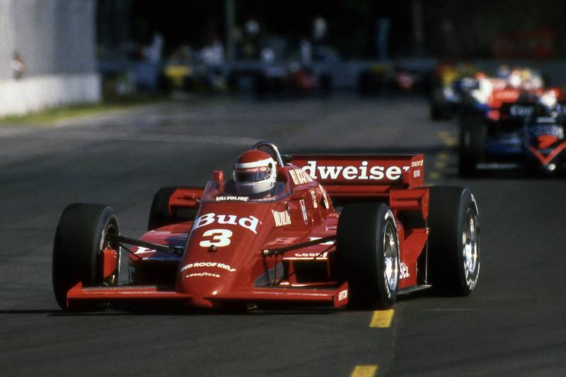 Bobby Rahal in the March Cosworth at Miami in 1985