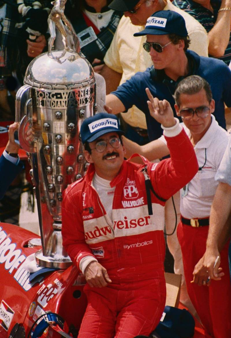 Bobby-Rahal-with-the-trophy-after-winning-the-1986-Indy-500