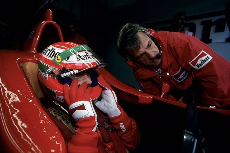 Gustav Brunner with Eddie Irvine