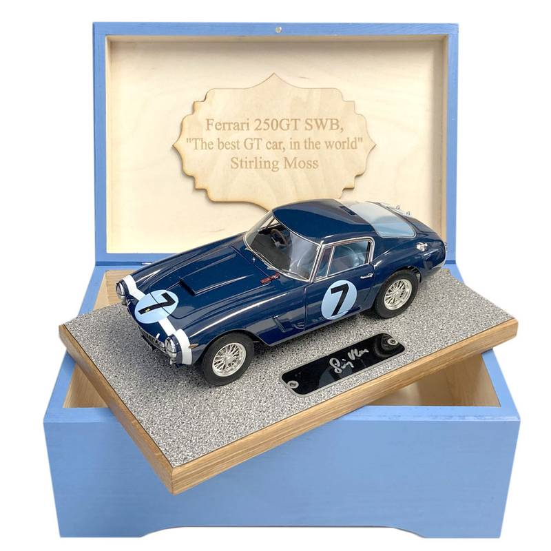 Product image for Boxed 1:18 Ferrari 250GT SWB, Goodwood TT, signed Stirling Moss