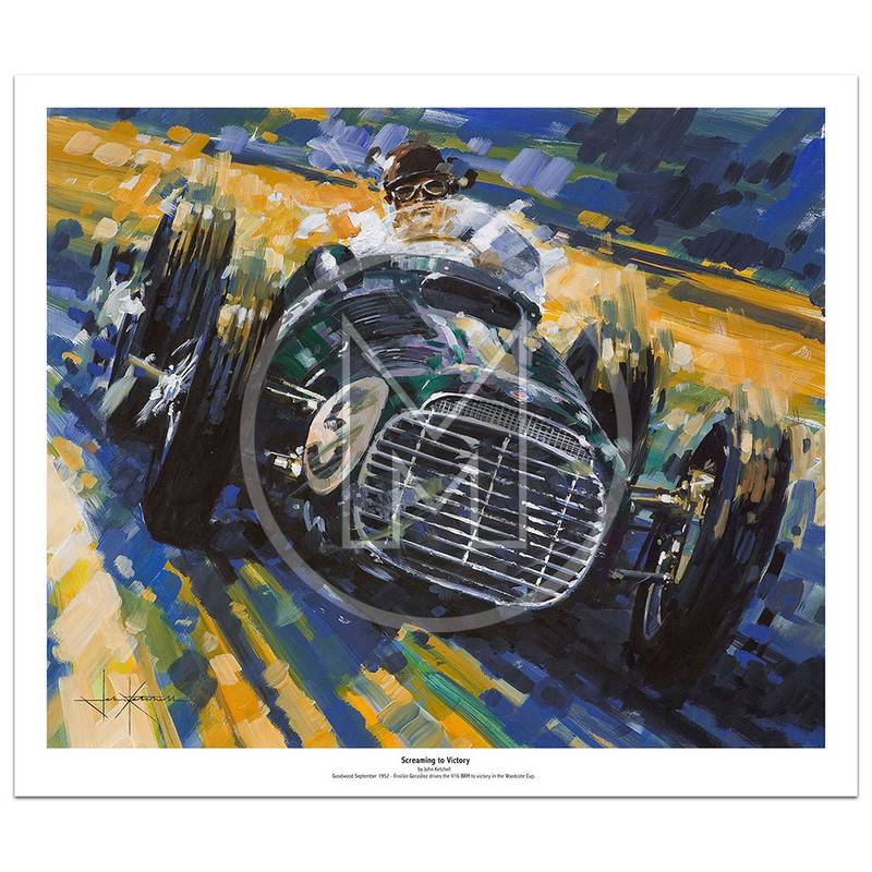 Product image for Screaming to Victory | Froilán González – BRM V16 – 1952 | John Ketchell | Limited Edition Print
