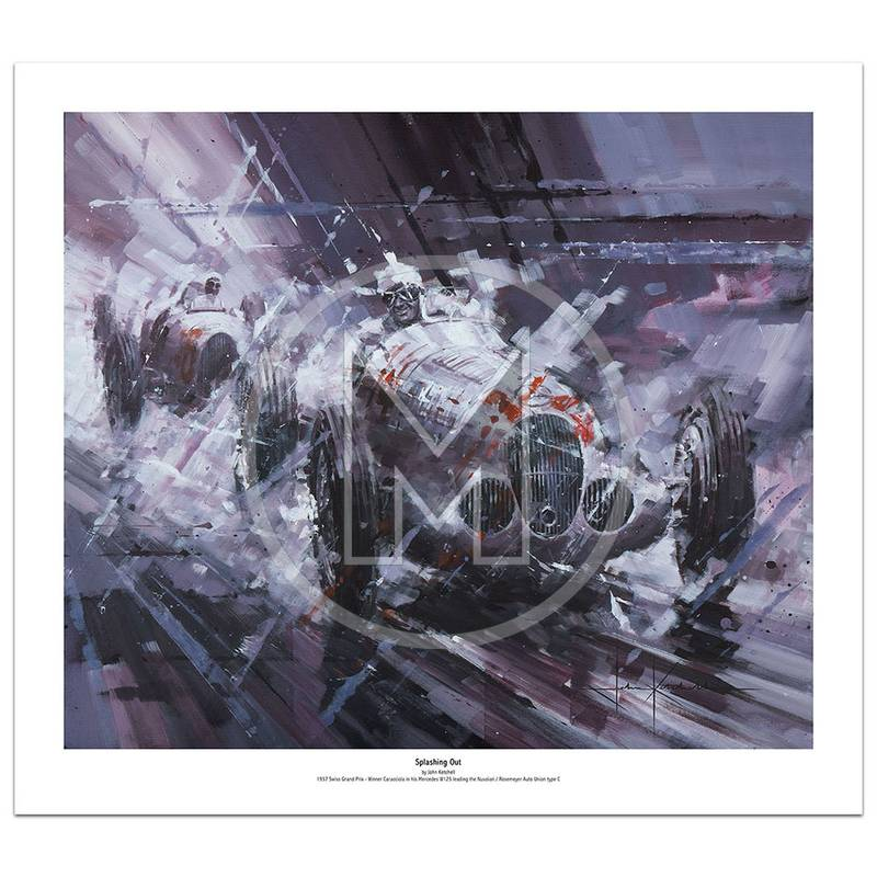 Product image for Splashing Out | Rudolf Caracciola – Mercedes W125 – 1937 | John Ketchell | Limited Edition Print