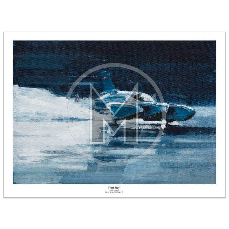Product image for Speed Addict | Donald Campbell - Bluebird K7 - 1967 | John Ketchell | Limited Edition Print