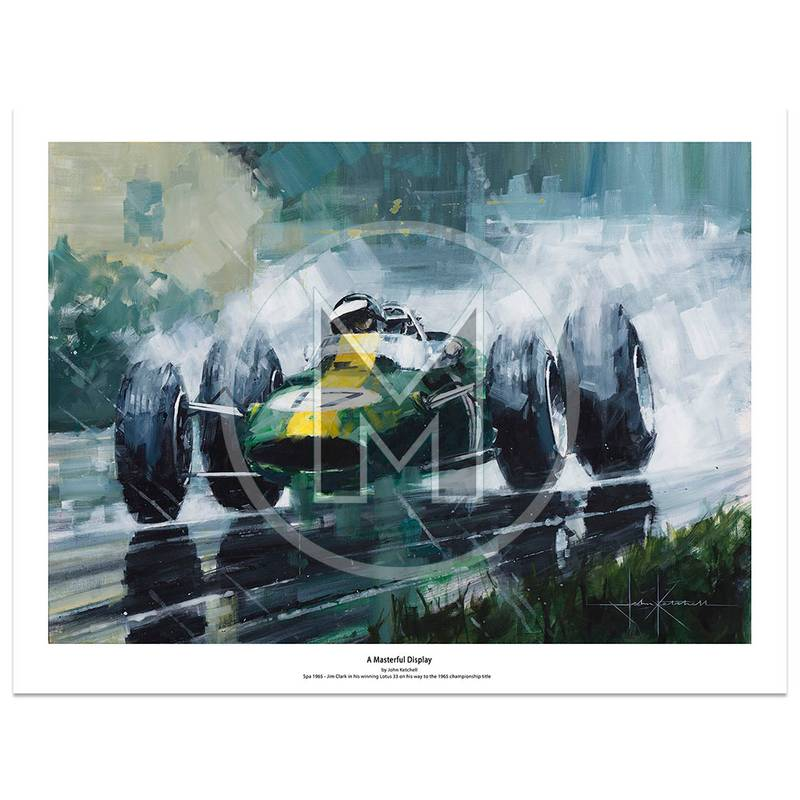 Product image for A Masterful Display | Jim Clark - Lotus 33 - 1965 | John Ketchell | Limited Edition Print