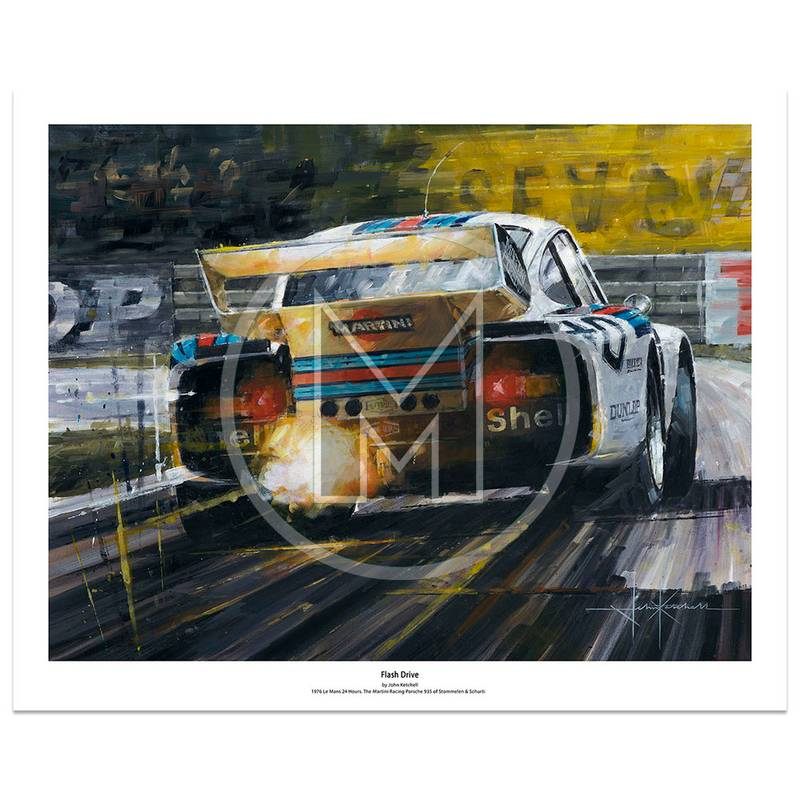 Product image for Flash Drive | Rolf Stommelen – Porsche 935 –  Le Mans 1976 | Limited Edition Print