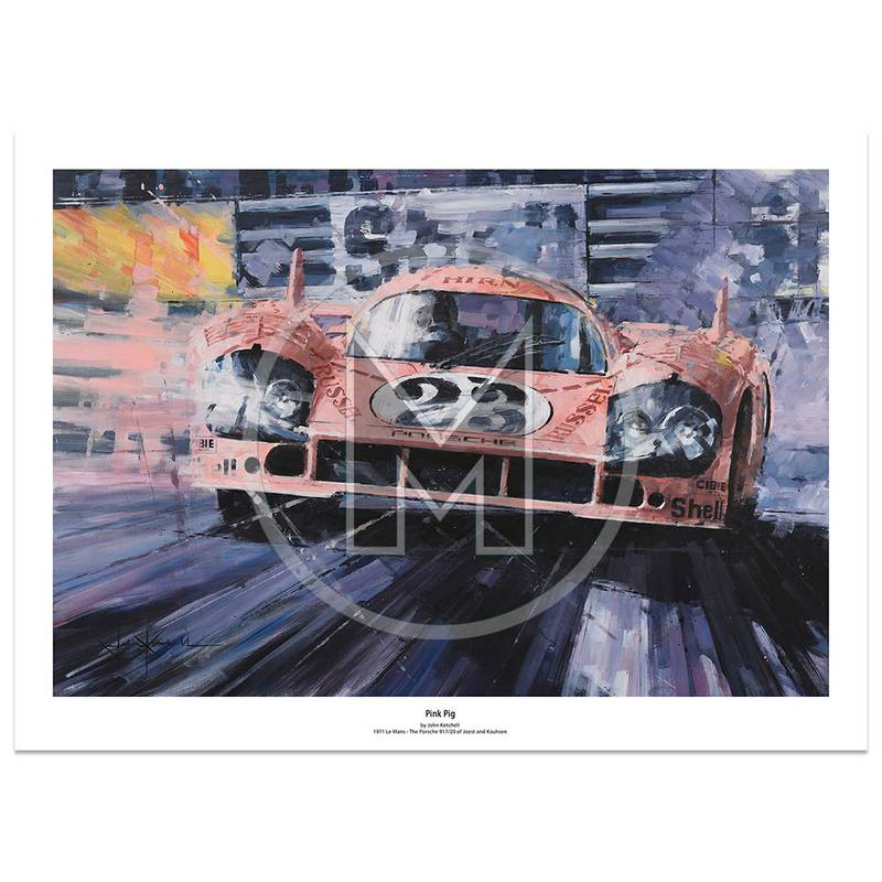 Product image for Pink Pig | Rolf Stommelen – Porsche 935 – Le Mans 1971 | Limited Edition Print