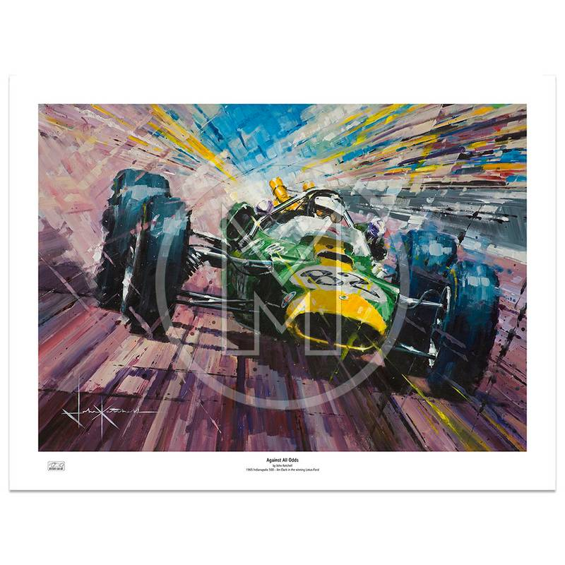 Product image for Against All Odds | Jim Clark - Lotus Ford - 1965 | John Ketchell | Limited Edition Print