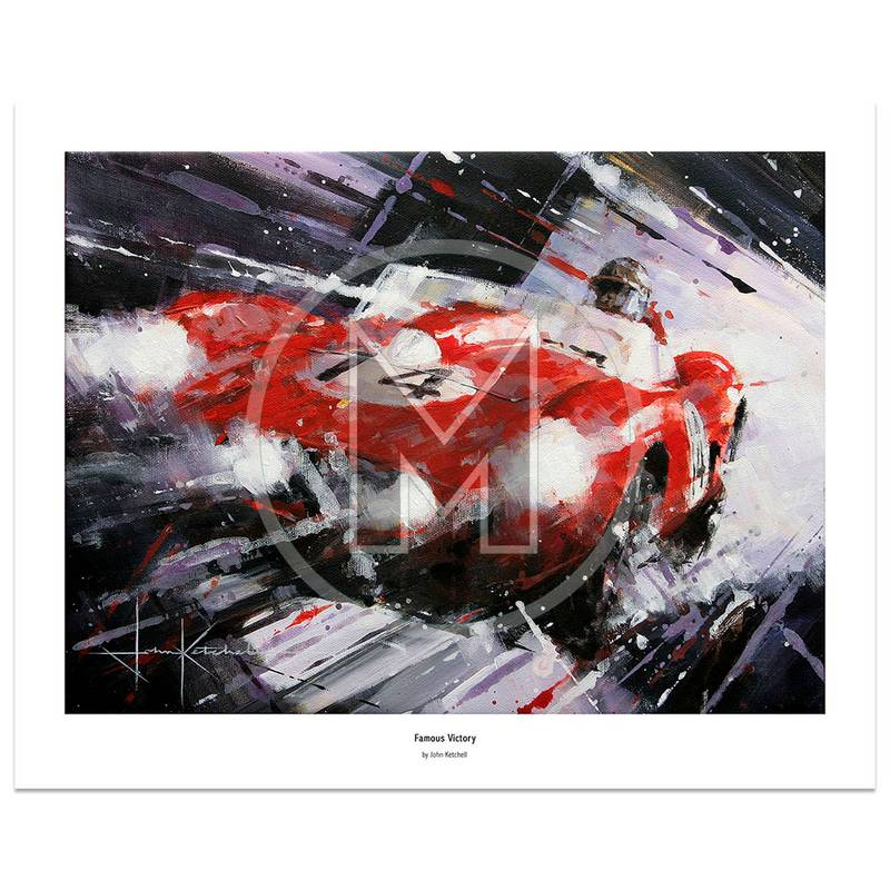 Product image for Famous Victory | Phil Hill – Ferrari 250 TR58 – 1958 | John Ketchell | Limited Edition Print