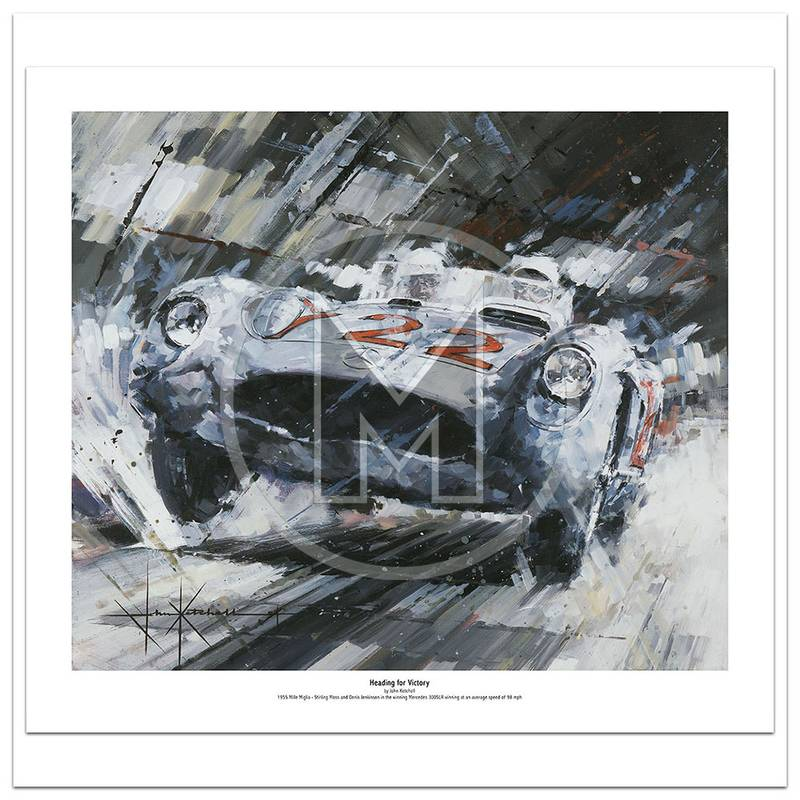 Product image for Heading for Victory | Stirling Moss – Mercedes 300 SLR – 1955 | John Ketchell | Limited Edition Print