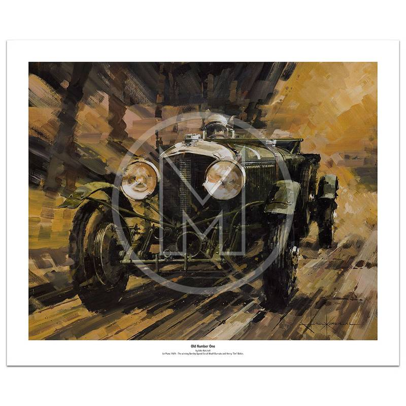 Product image for Old Number One | Birkin & Barnato – Bentley Speed Six – 1929 | John Ketchell | Limited Edition Print