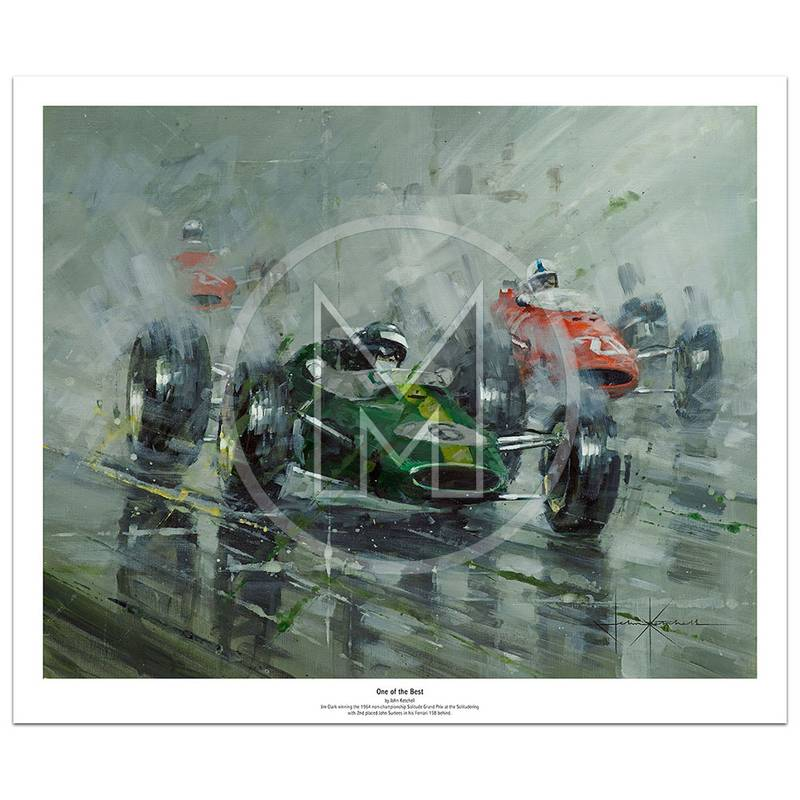 Product image for One of the Best | Jim Clark – Lotus 33 – 1964 | John Ketchell | Limited Edition Print