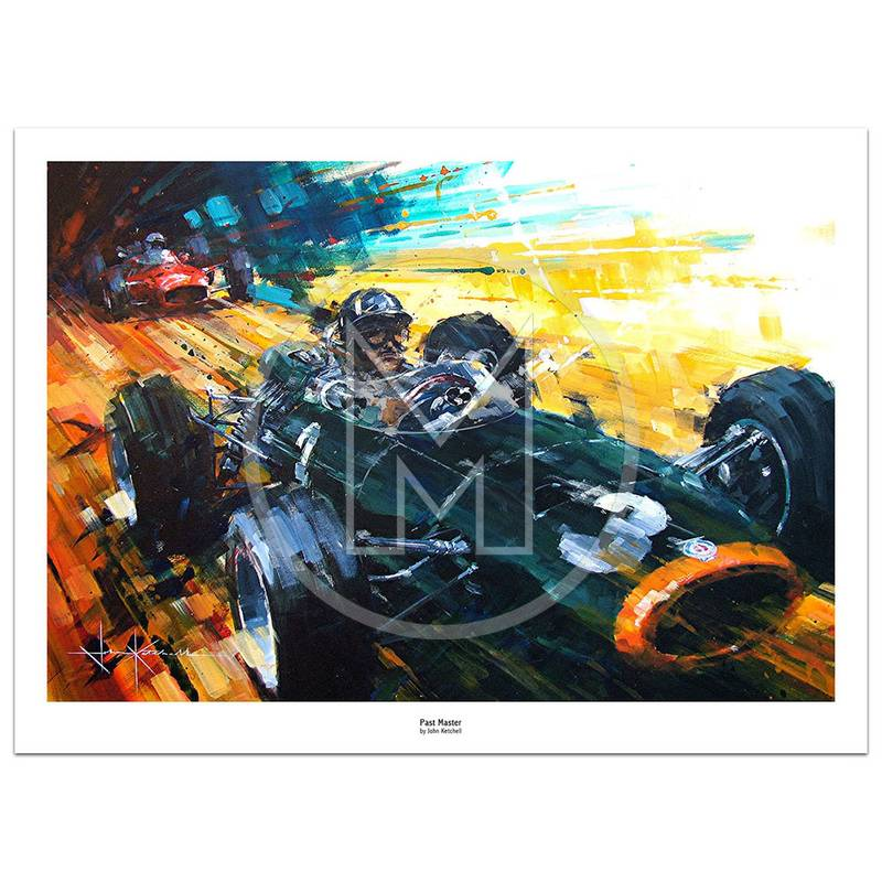 Product image for Past Master | Graham Hill – BRM P216 – 1965 | John Ketchell | Limited Edition Print