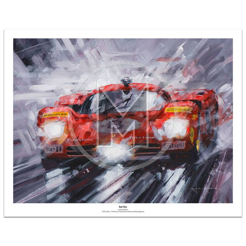 Product image for Red Mist |  Ferrari 512S – Le Mans – 1970 | John Ketchell | Limited Edition Print