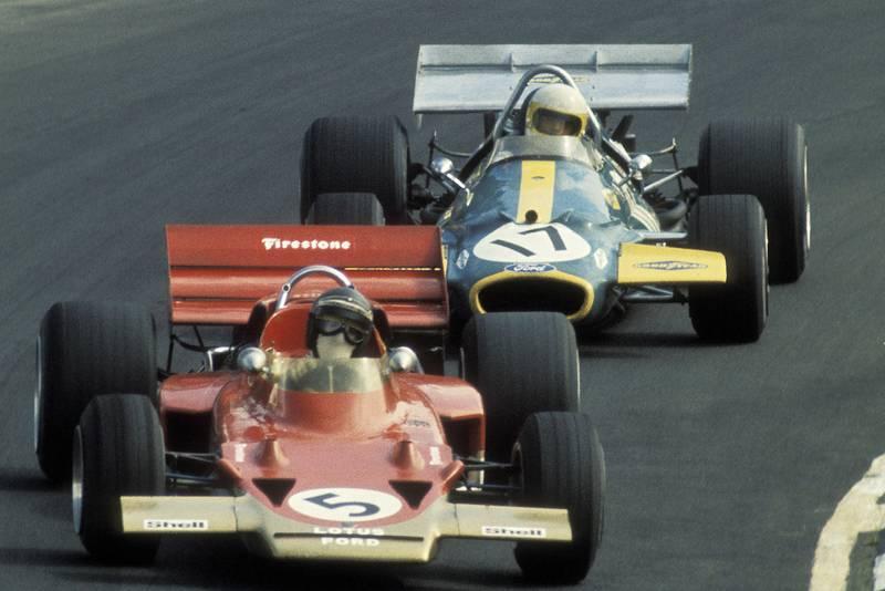 Jochen Rindt at the 1970 F1 British Grand Prix at Brands Hatch
