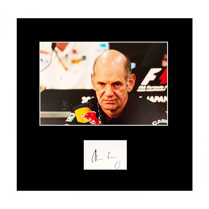 Product image for Adrian Newey – Red Bull | photo print display | signed Adrian Newey