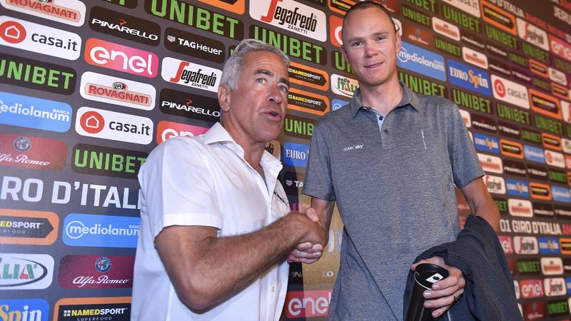 Sylvan Adams with Chris Froome