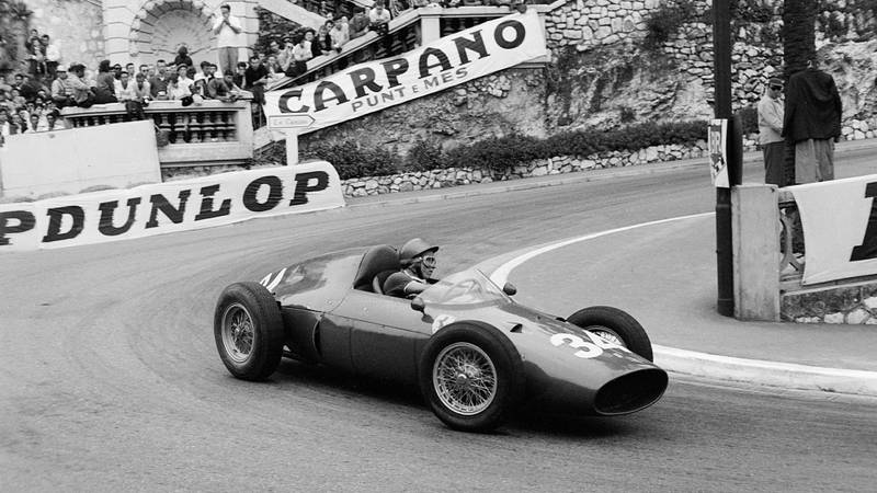 Richie Ginther in the Ferrari 246P at the 1960 Monaco Grand Prix